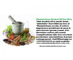 Namutekaya Herbal Oil For Impotence Male Enhancement Call +27710732372 Pietermaritzburg